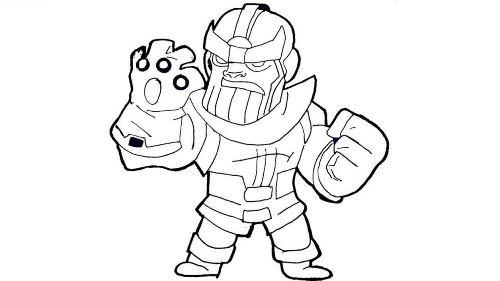Lego Thanos Coloring Page
