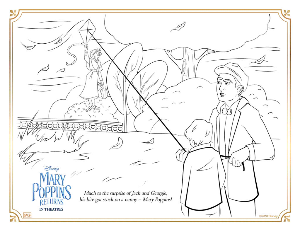 Marry Poppins Returns Coloring Page