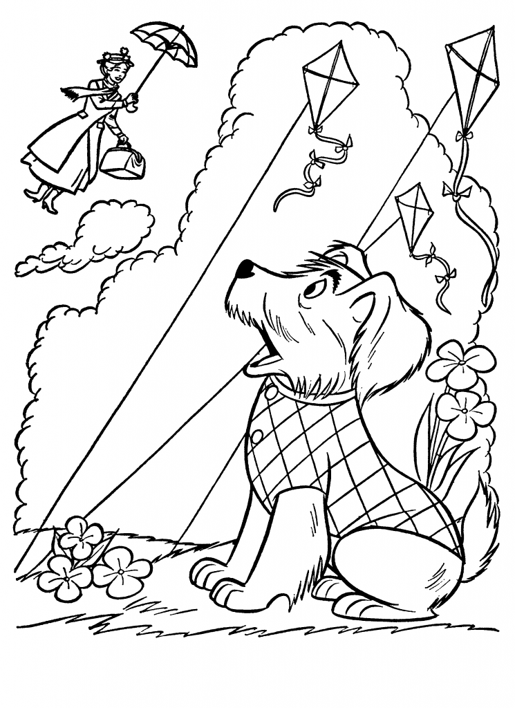Mary Poppins Dog Coloring Pages