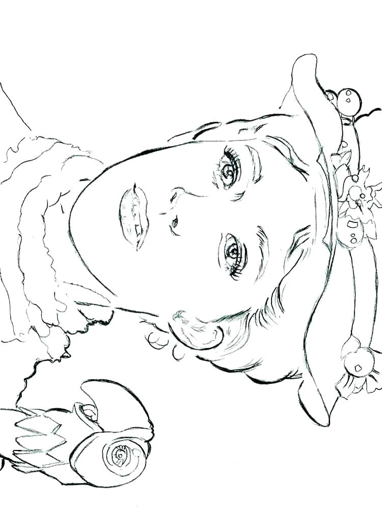 Mary Poppins Printable Coloring Page