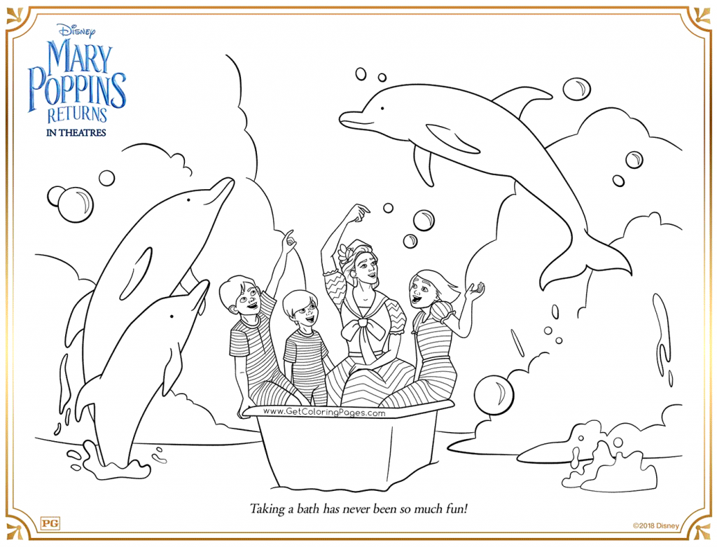 Mary Poppins Returns Free Coloring Pages