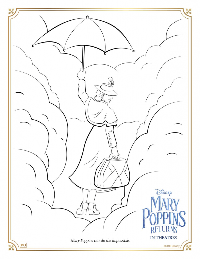 Mary Poppins Returns Printable Coloring Pages