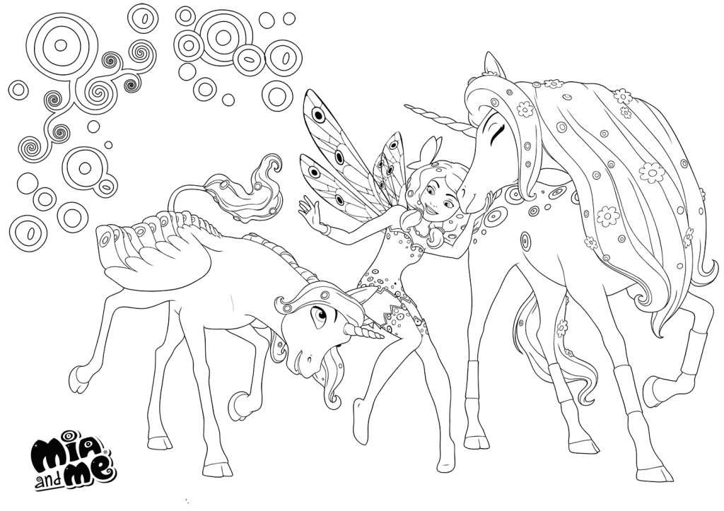 Mia and Me Coloring Page (2)