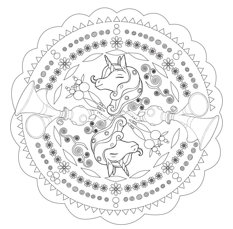 Mia and Me Mandala Coloring Page