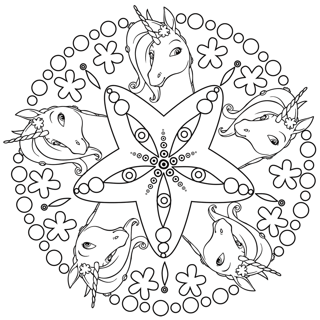 Mia and Me Mandala Coloring Pages