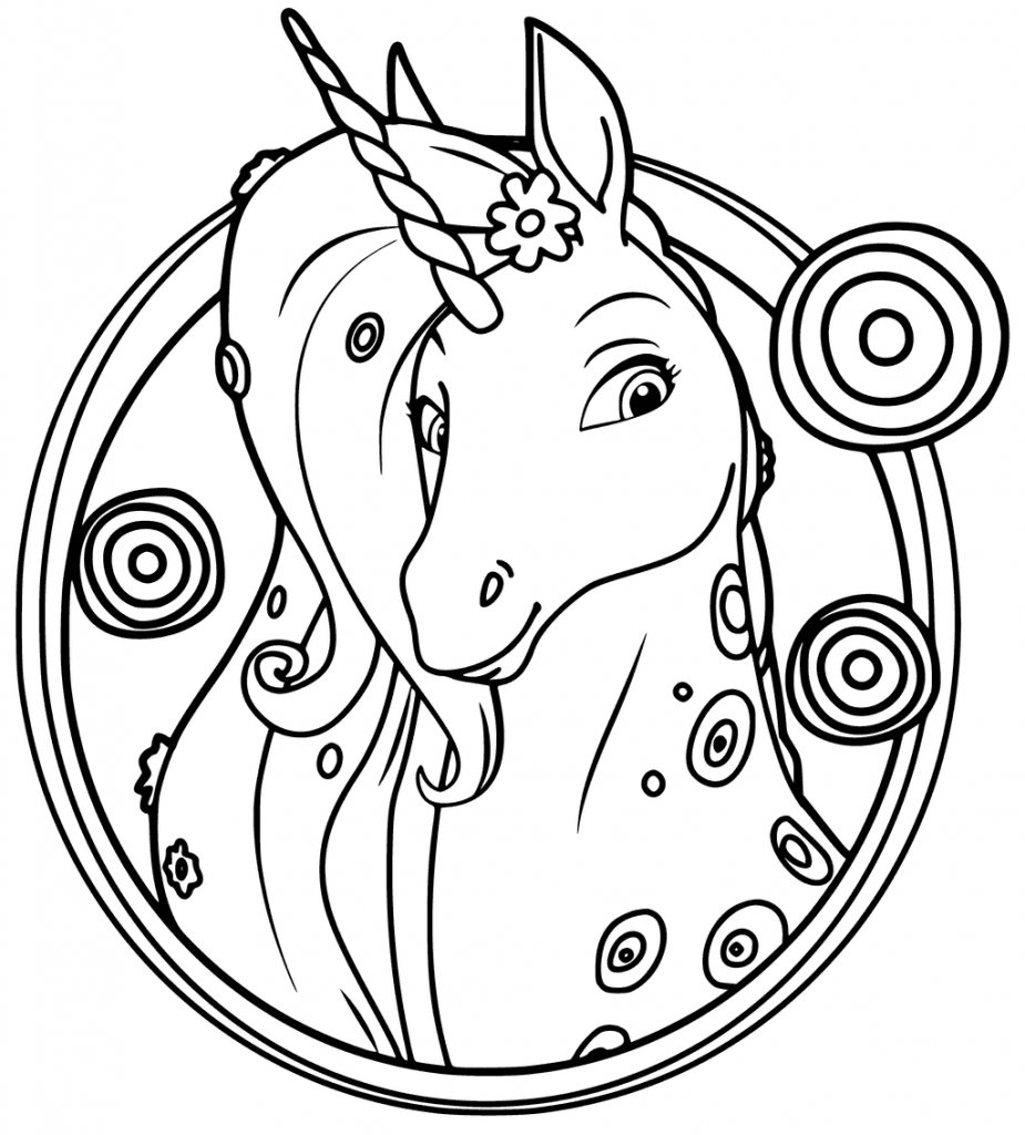 Mia and Me Unicorn Coloring Pages