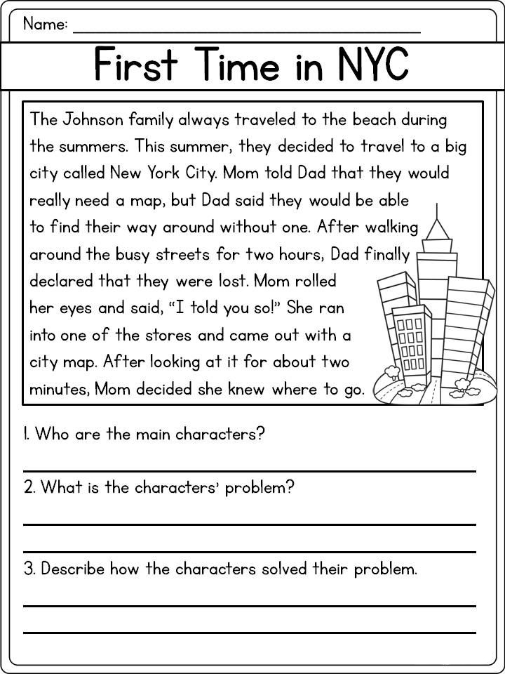 Reading Comprehension Worksheets - Best Coloring Pages For ...
