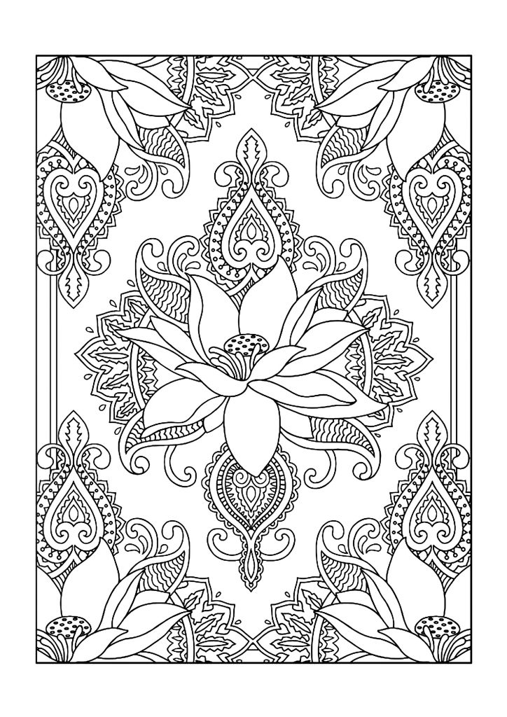 Pattern Floral Coloring Pages For Adults