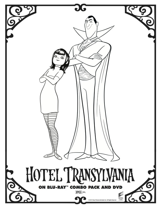 Print Hotel Transylvania Coloring Pages