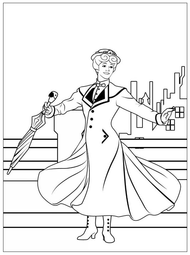 Print Mary Poppins Coloring Sheets