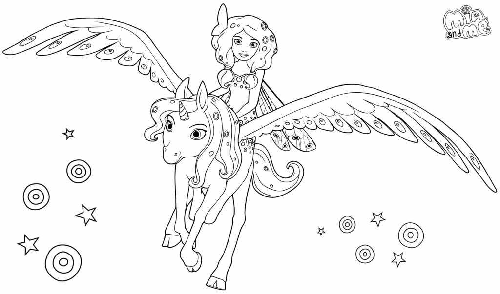 Print Mia and Me Coloring Pages