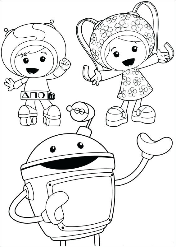 Print Team Umizoomi Coloring Page