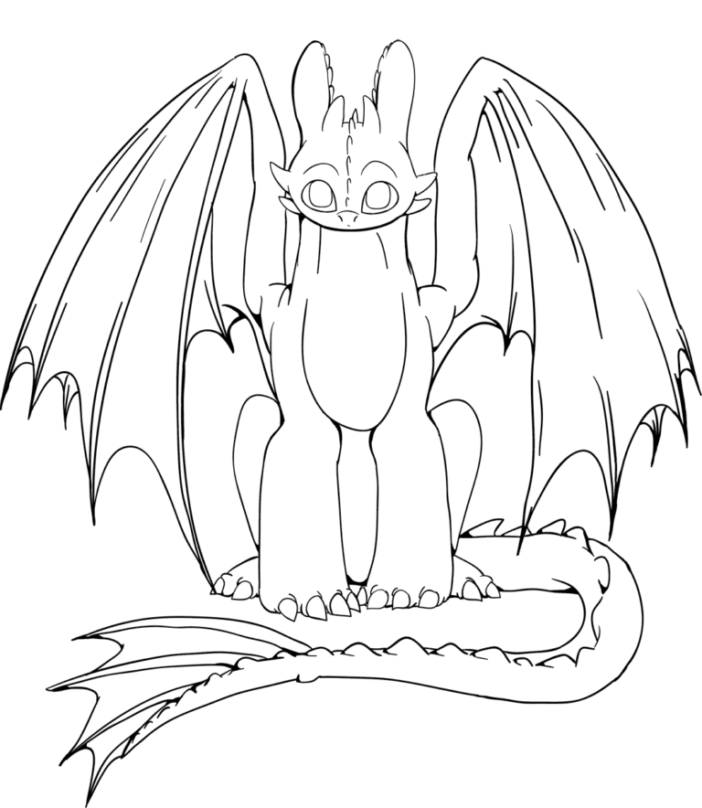 Print Toothless Coloring Page