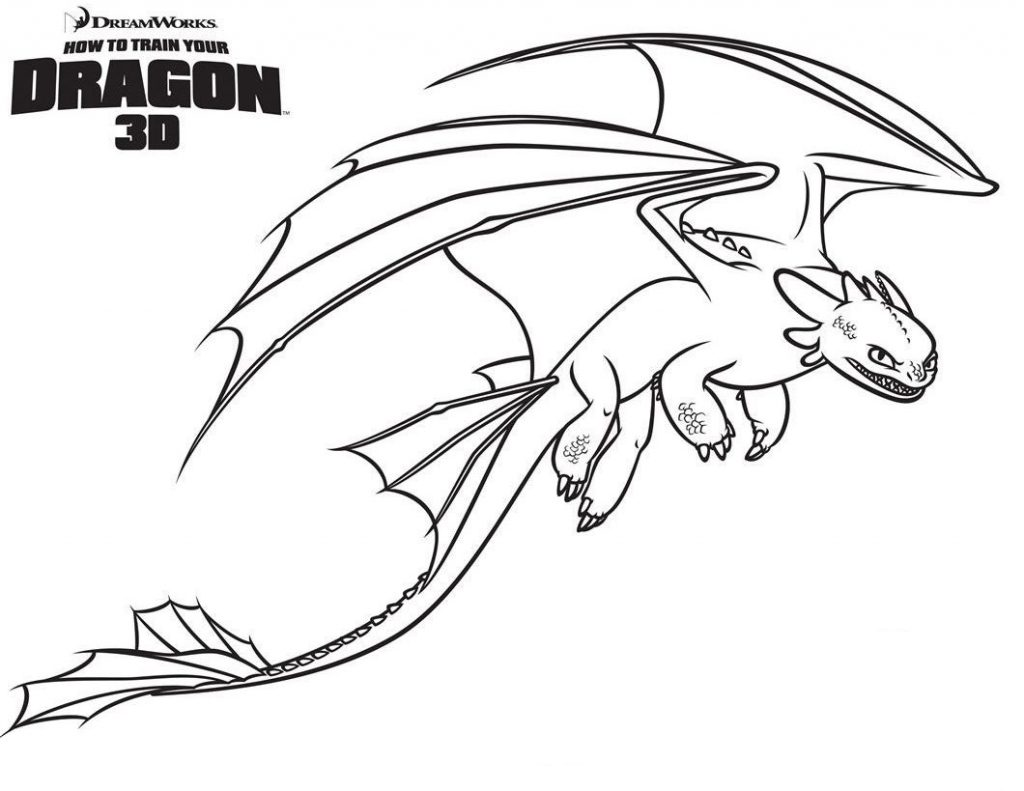 Print Toothless Coloring Pages