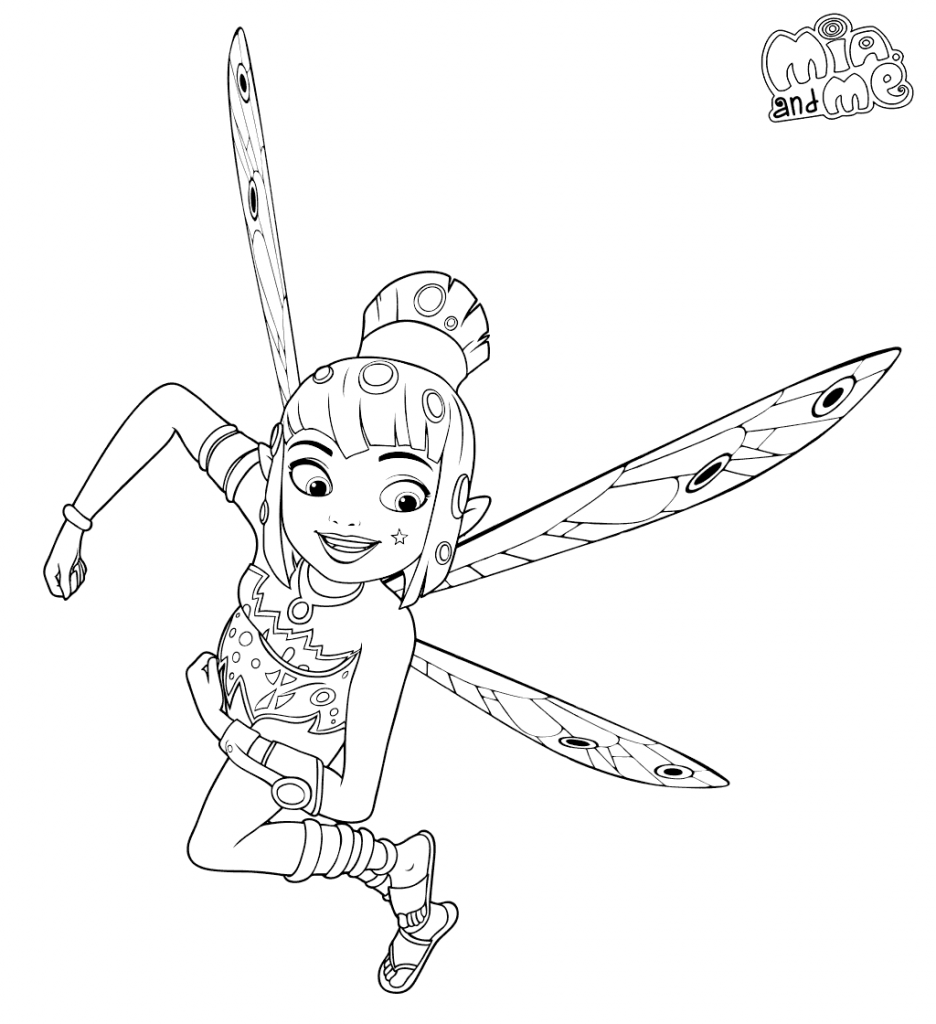 Printable Mia and Me Coloring Pages