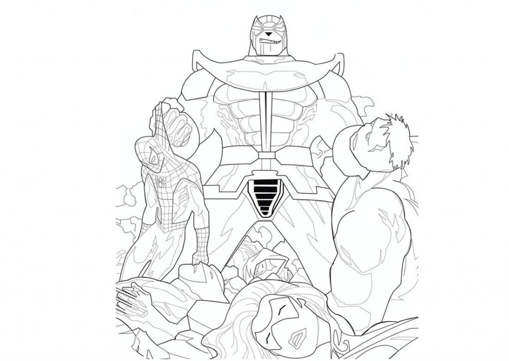 Printable Thanos Coloring Page