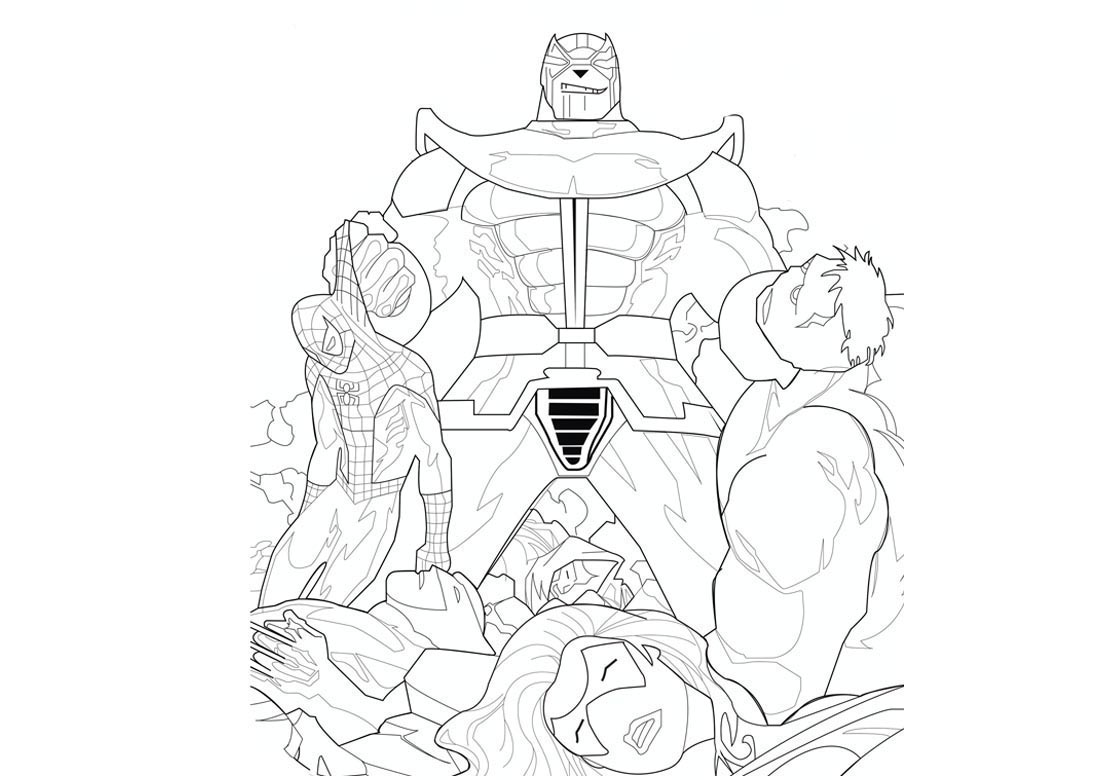 Thanos Coloring Pages Best Coloring