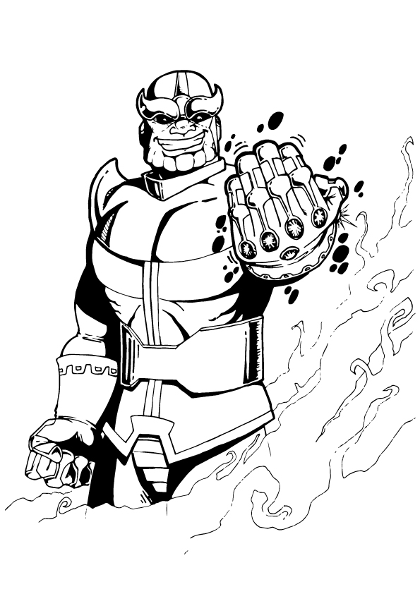 Printable Thanos Coloring Pages