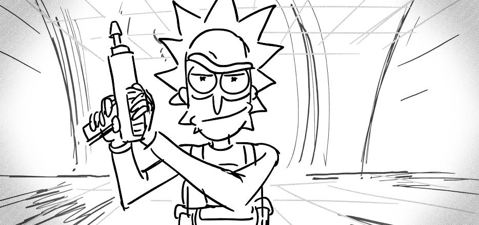 Rick Coloring Pages