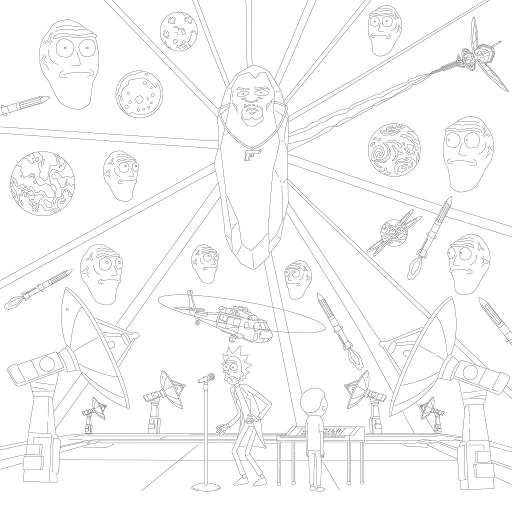 Rick and Morty Coloring Page Printables