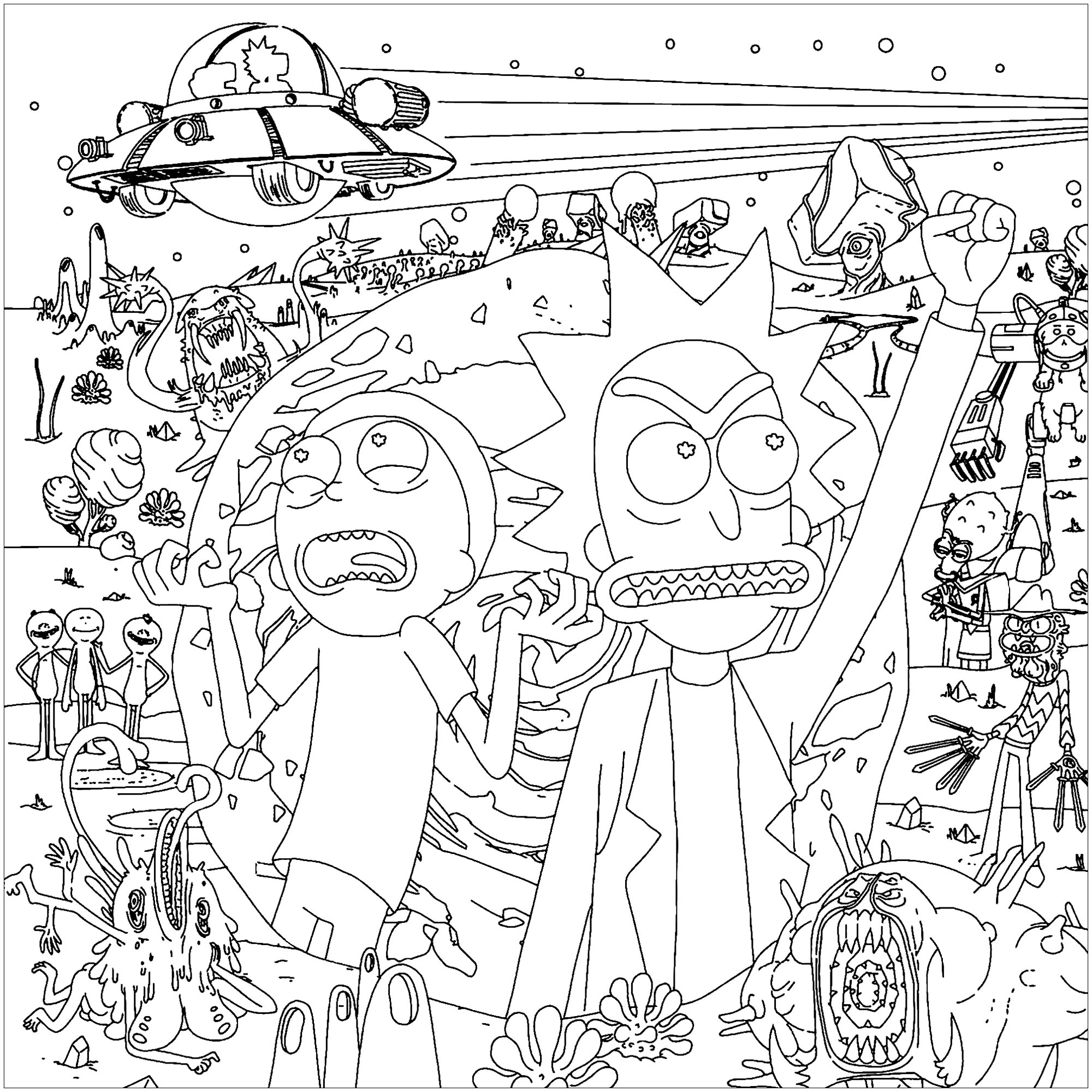 Rick and Morty Coloring Pages - Best Coloring Pages For Kids