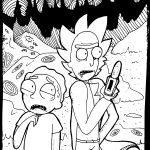 Rick and Morty Planet Coloring Pages