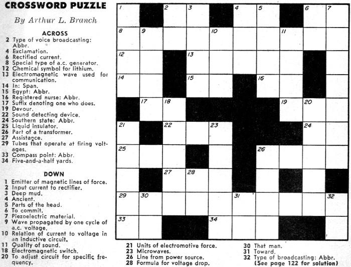 Simple Crossword Puzzle for Adults