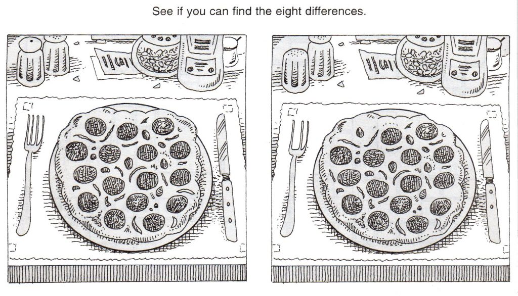 Spot the Difference Printable Game