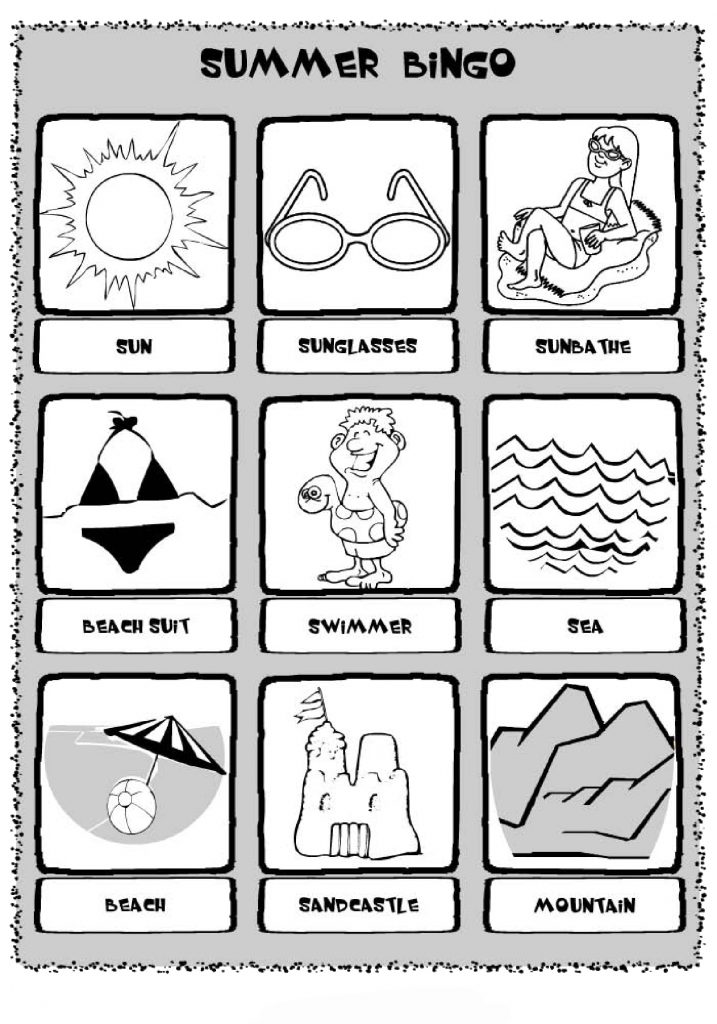 Summer Bingo Printable Sheet