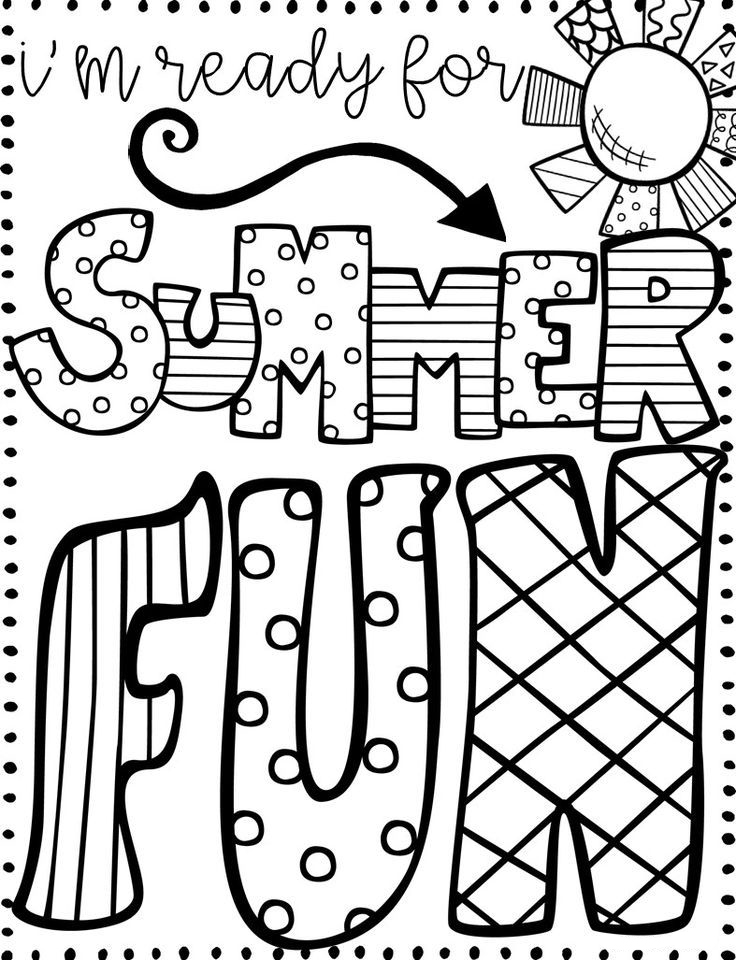 Summer Fun June Coloring Pages