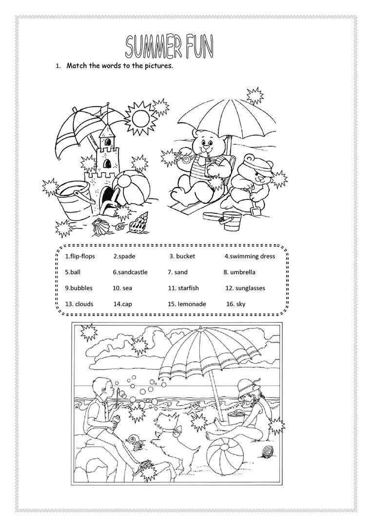 summer worksheets best coloring pages for kids. Black Bedroom Furniture Sets. Home Design Ideas