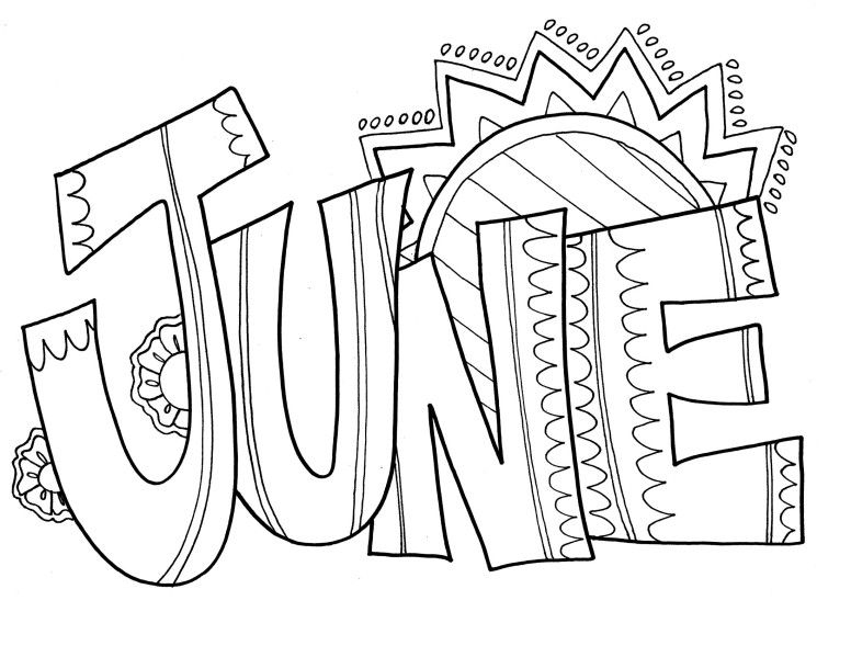 Sunny June Coloring Pages