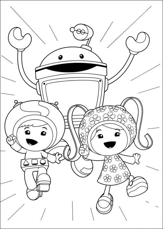Team Umizoomi Characters Coloring Pages