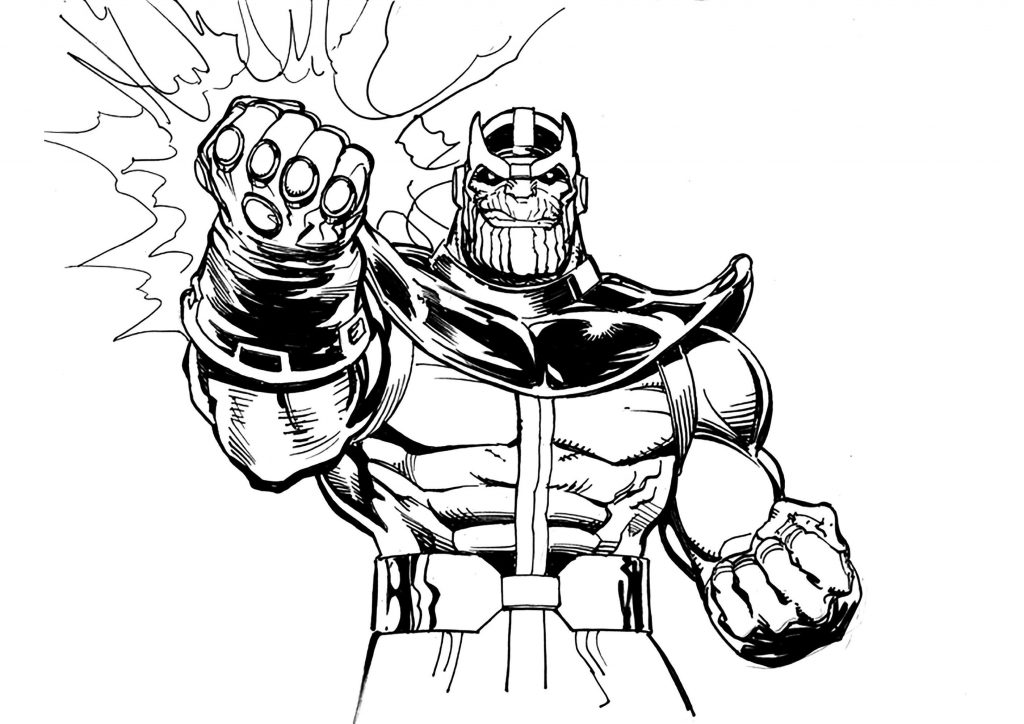 Thanos Comic Book Coloring Pages