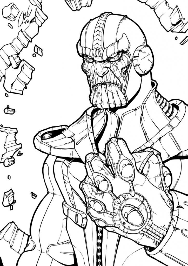 Thanos Drawing to Color