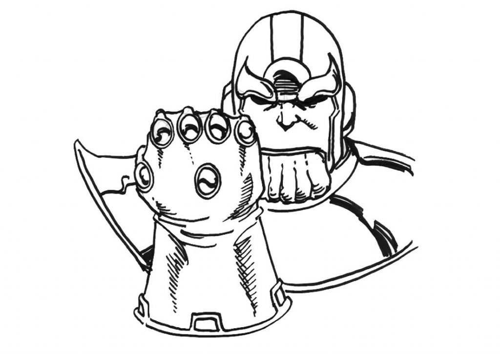Thanos Gauntlet Coloring Pages
