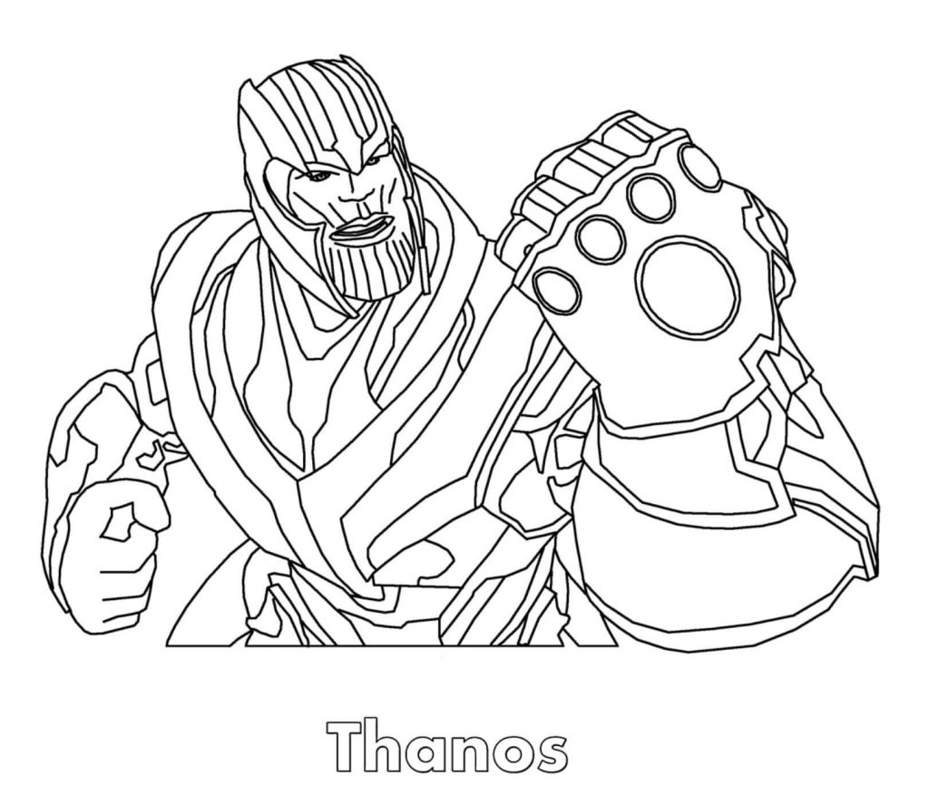 Thanos Guardians of the Galaxy Coloring Page