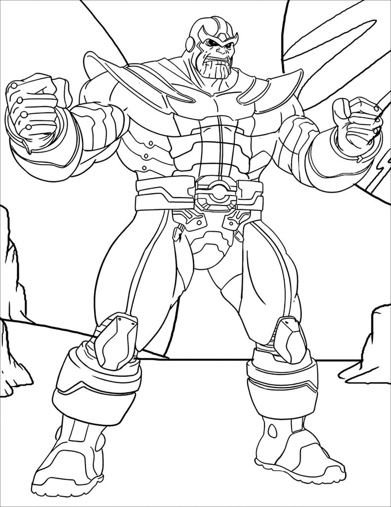 Thanos Printable Coloring Page