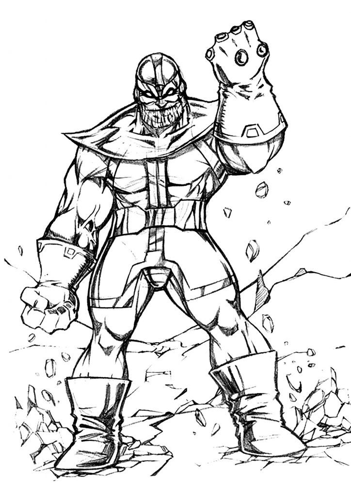 Thanos Sketch Coloring Pages