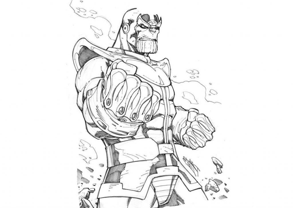 Thanos Sketch for Coloring