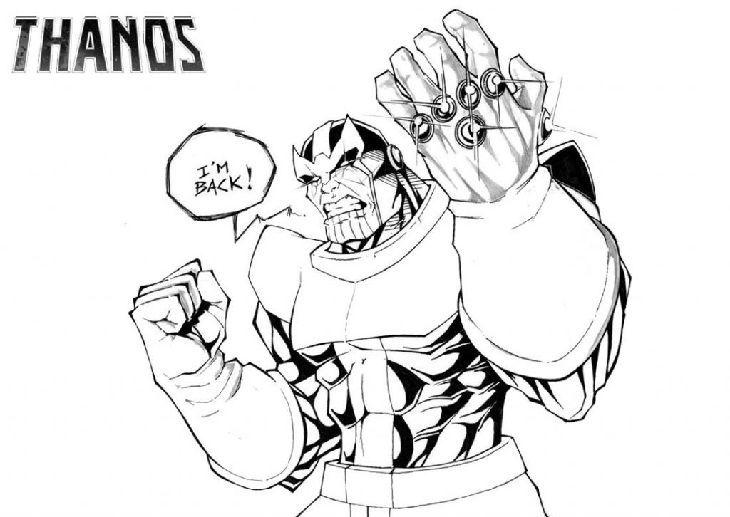 Thanos is Back Coloring Pages