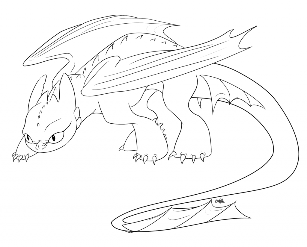 Toothless Coloring Page Printables