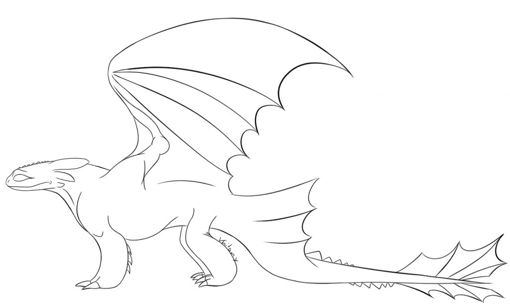 Toothless Dragon Coloring Page
