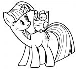 Twilight Sparkle and Owl Coloring Page