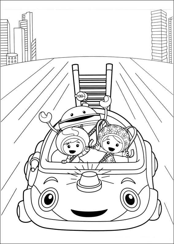 Umicar Team Umizoomi Coloring Pages