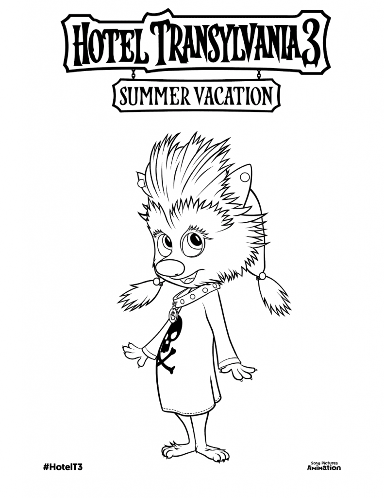 Winnie Hotel Transylvania Coloring Pages