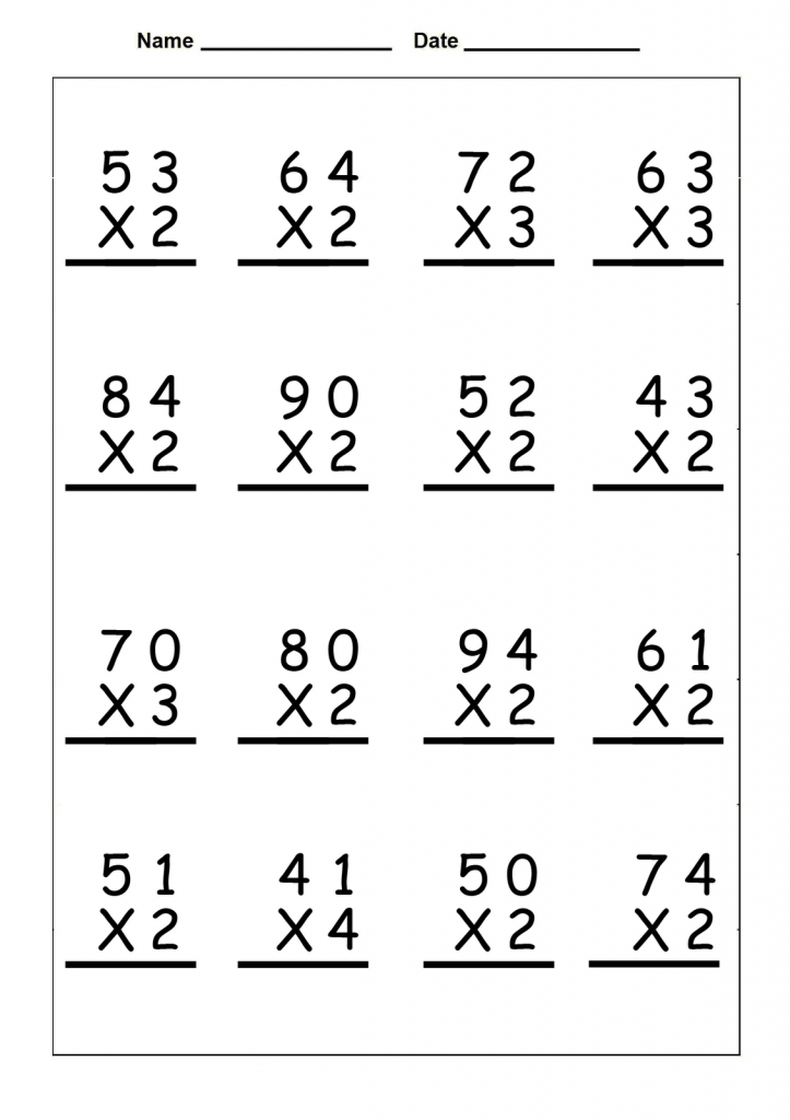 4th Grade Math Worksheets Multiplication