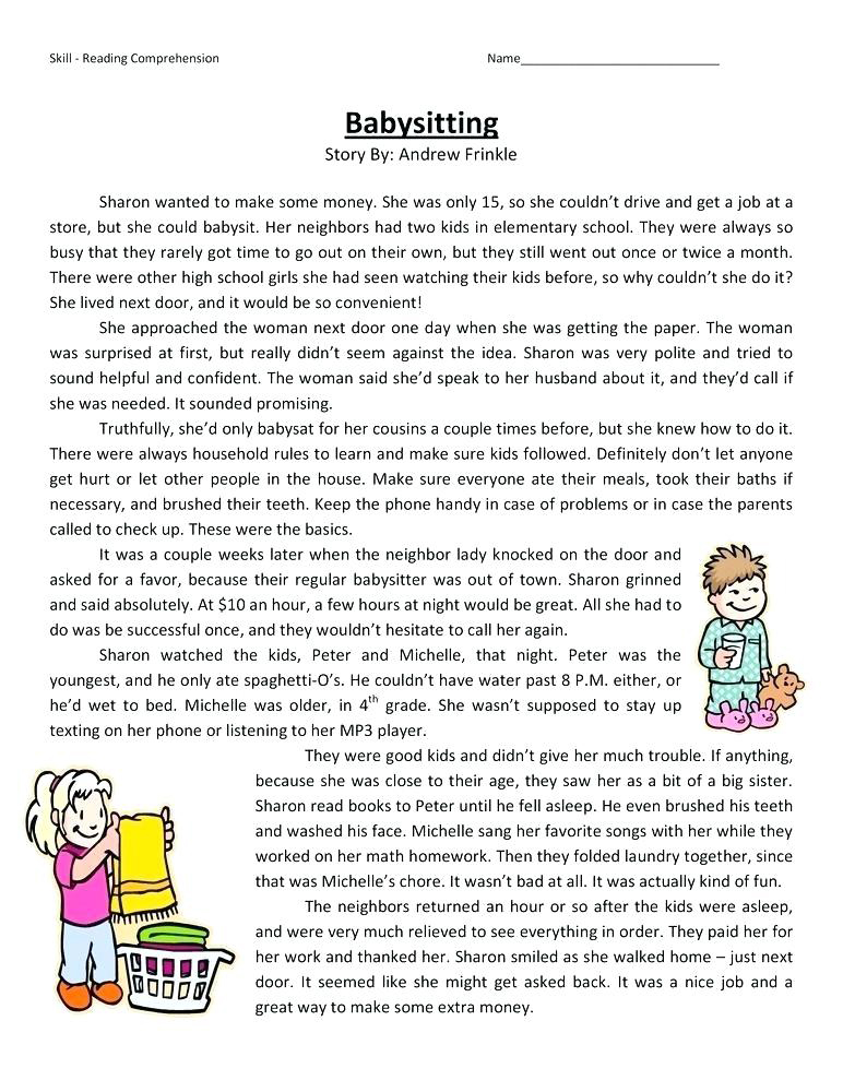 4th Grade Reading Comprehension Worksheets - Best Coloring ...