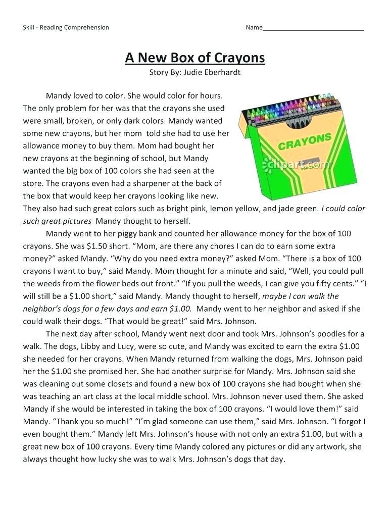 4th Grade Reading Comprehension - Crayons