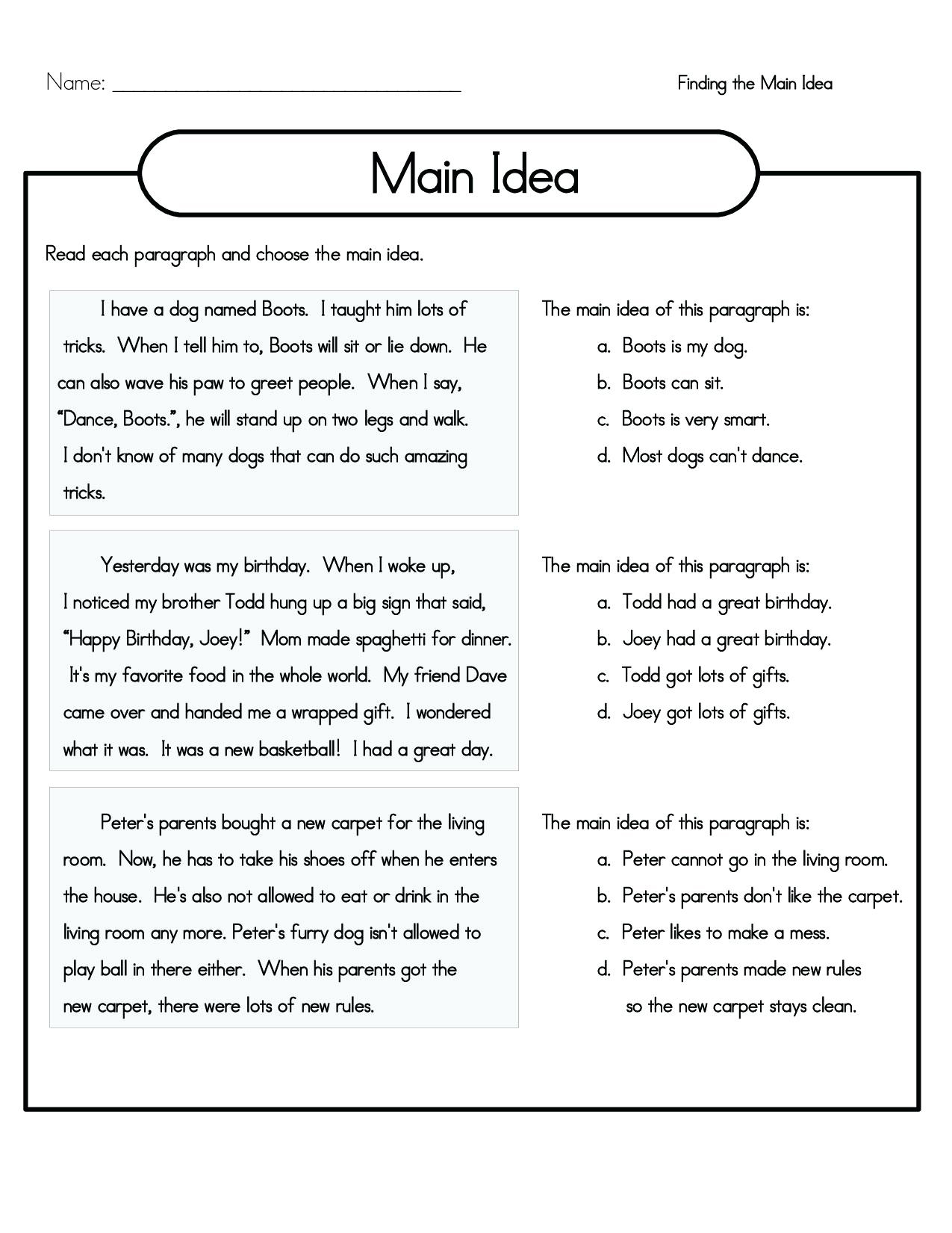 - 4th Grade Reading Comprehension Worksheets - Best Coloring Pages